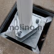 Mobil alumínium zászlórúd talp