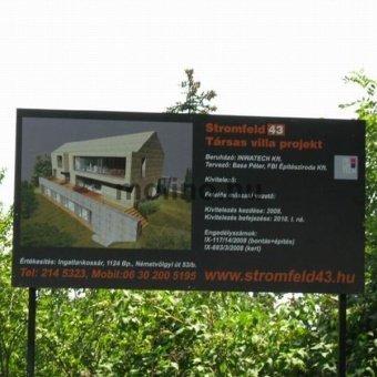 Építkezési információs tábla