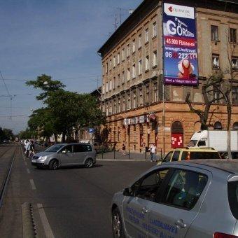 Lehel u. Nyugati pu. felől Hungária krt. irányába