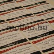 Címke gyártás papír alapú matricából