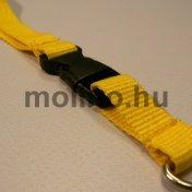 Bordás szatén nyakpánt sárga