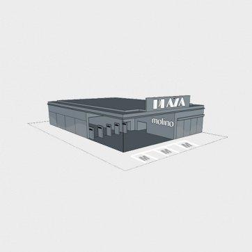 Bevásárló központnál bérelhető felületek