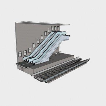 Metró állomáson bérlehető felületek