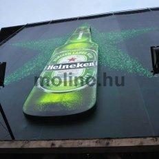 Egyedi 3 dimenziós HEINEKEN reklám a MOLINO KFT-től