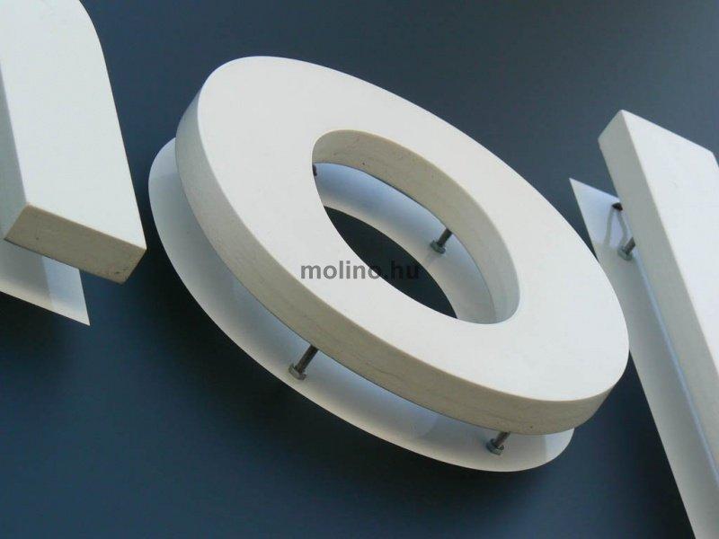 Háttérvilágított betű táblára rögzítve