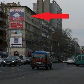 Váci út Lehel tér után, Árpád híd irányába felső
