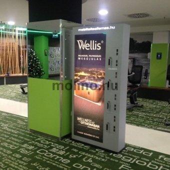 Mobiltöltőállomás Fitness Wellnes hálózat