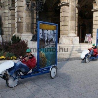 3 kerekű reklámkerékpár
