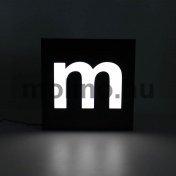 Hajlított dibond világító doboz 04