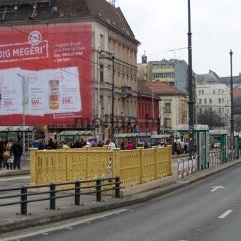 Margit híd, Budai hídfő – Margit krt. irányába