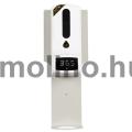 Hőmérős fali kézfertőtlenítő állomás, lecseppenés elleni tálcával