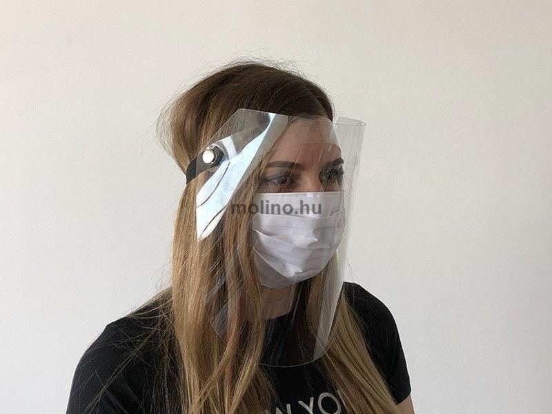 Fejvédő plexi pajzs