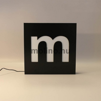 Hajlított dibond világító doboz 01
