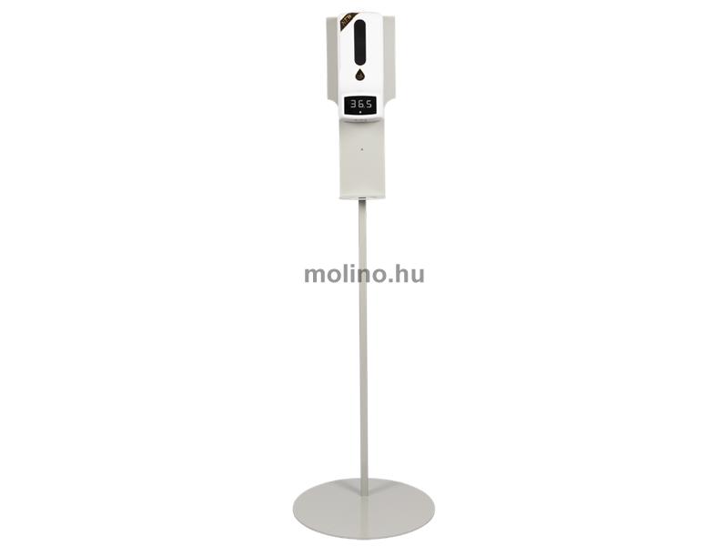 Hőmérős (infravörös) szenzoros kézfertőtlenítő állomás, állvánnyal