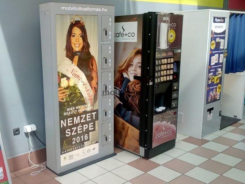Mobiltöltő állomás Auchan 0018