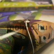 Üvegre belülről ragasztható matrica